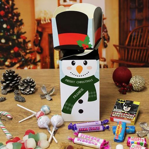 Personalised Snowman Sweetie Christmas Cracker