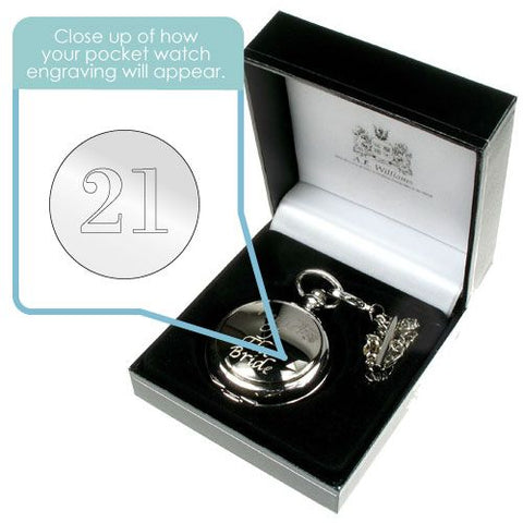 Personalised 21st Birthday Pocket Watch