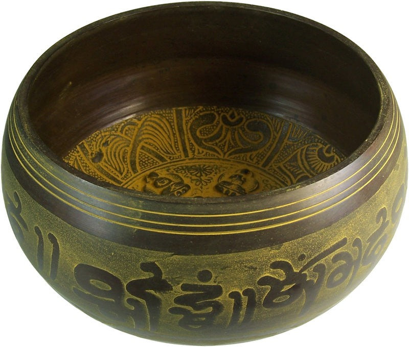 Extra Loud - Singing Bowl - Five Buddha, Musical Instrument & Orchestra Accessories by Low Cost Gifts