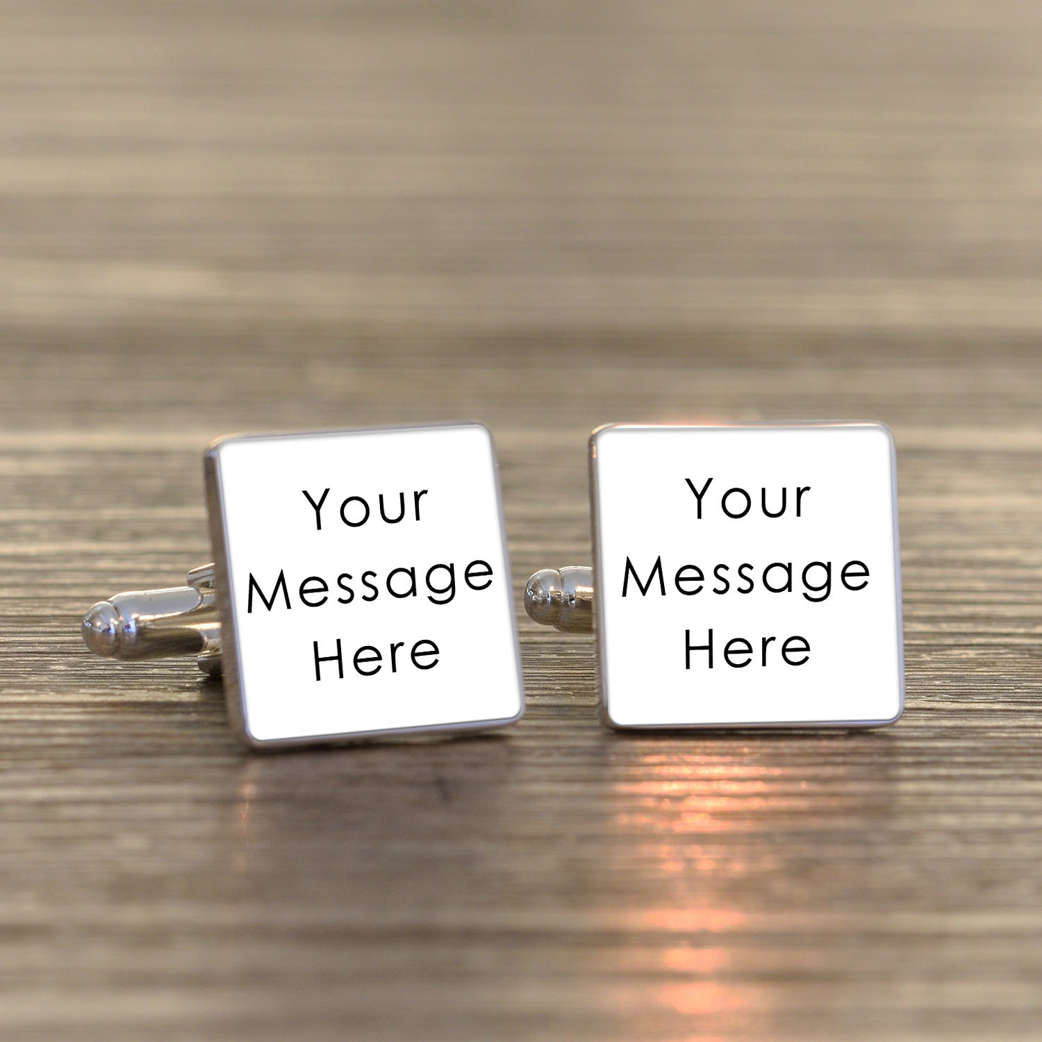 Any Message Square Cufflinks, Clothing & Accessories by Gifts24-7