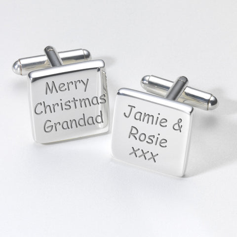 Merry Christmas Grandad Cufflinks - Shane Todd Gifts UK