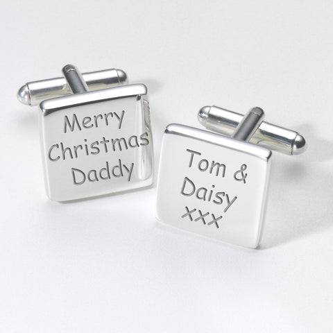 Merry Christmas Daddy Cufflinks | Gifts24-7.co.uk
