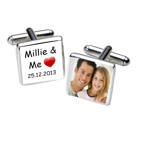 ...& Me Photo Cufflinks | Gifts24-7.co.uk