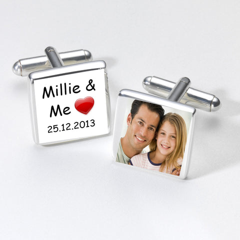 ...& Me Photo Cufflinks - Shane Todd Gifts UK