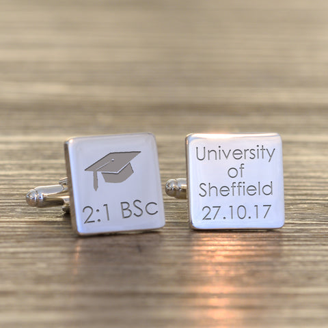 Graduation Square Cufflinks | Gifts24-7.co.uk