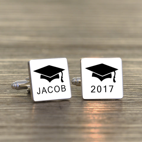 Personalised Graduation Cufflinks | Gifts24-7.co.uk