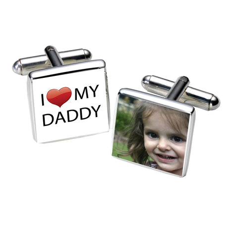 I Love Daddy Photo Cufflinks | Gifts24-7.co.uk