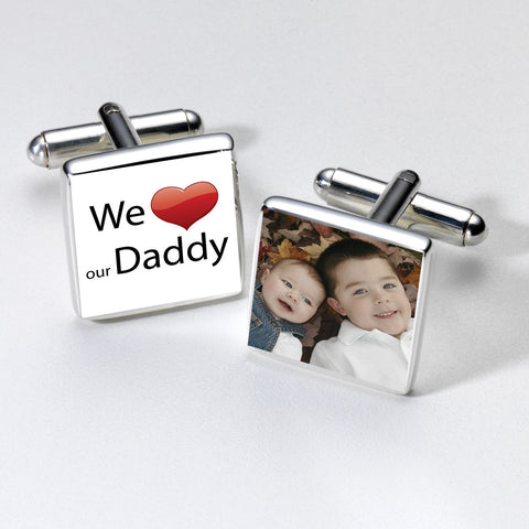 We Love Our Daddy Photo Cufflinks | Gifts24-7.co.uk