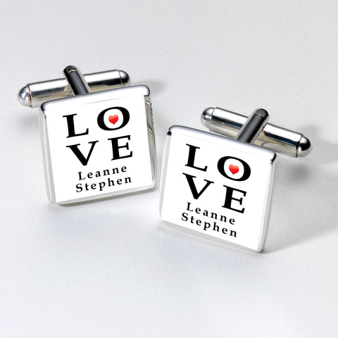 LOVE Cufflinks | Gifts24-7.co.uk