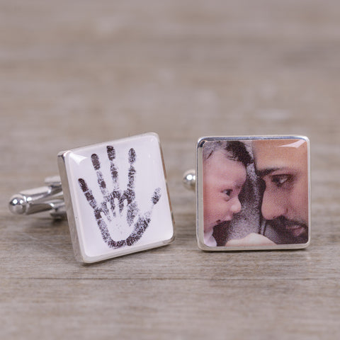 Two Hands Photo Cufflinks | Gifts24-7.co.uk