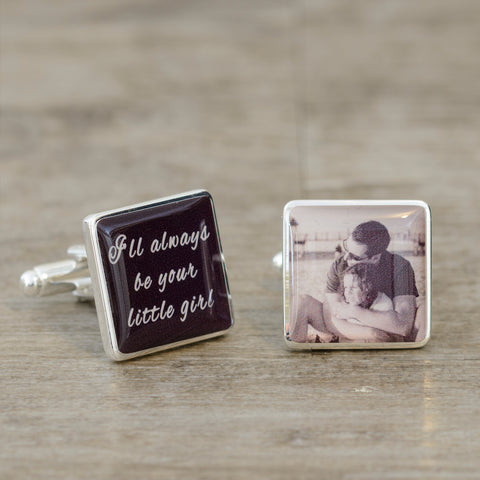 Ill always be your little girl Photo Cufflinks | Gifts24-7.co.uk