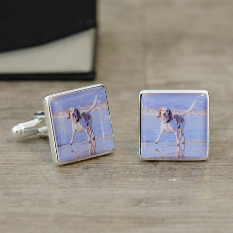 Dog Photo Cufflinks | Gifts24-7.co.uk