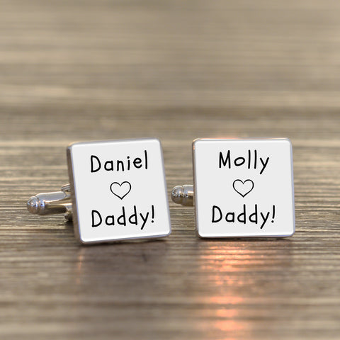 Daddy Loves Cufflinks | ShaneToddGifts.co.uk