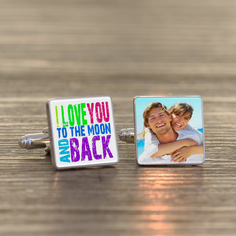 Moon and back...Photo Cufflinks | Gifts24-7.co.uk