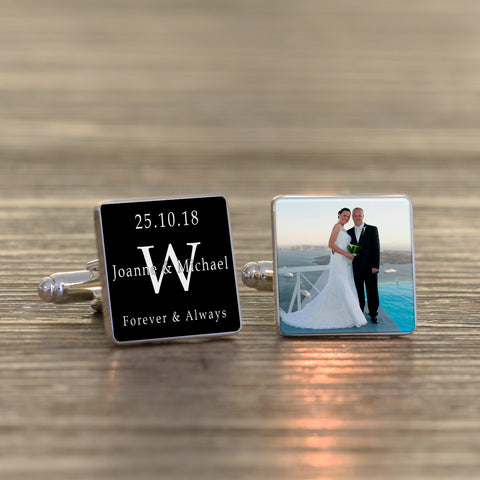 Forever & Always Photo Cufflinks | Gifts24-7.co.uk