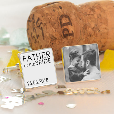 Father of the Bride/Groom Photo Cufflinks | Gifts24-7.co.uk