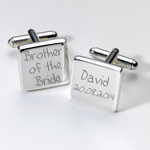 Personalised Brother of the Bride Cufflinks | Gifts24-7.co.uk