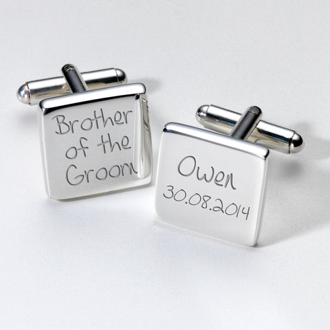 Personalised Brother of the Groom Cufflinks | Gifts24-7.co.uk