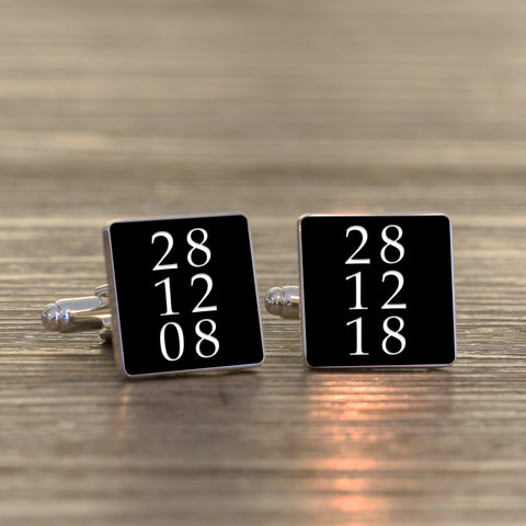 Special Date/s Cufflinks | Gifts24-7.co.uk
