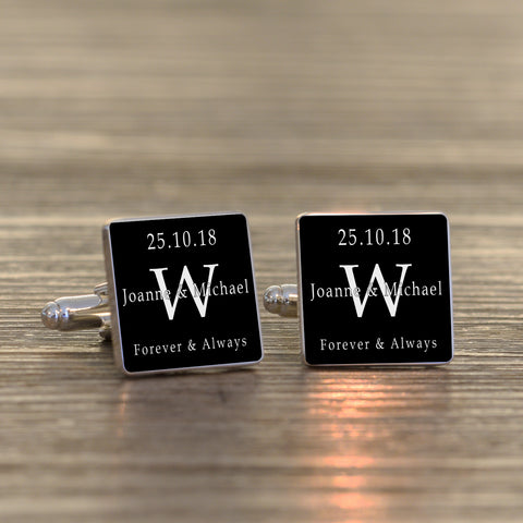 Forever & Always Cufflinks | Gifts24-7.co.uk