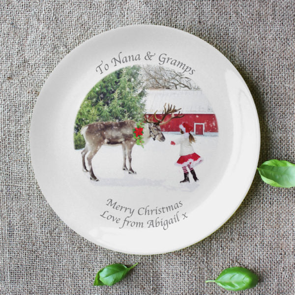 "Personalised Photo 8"" Bone China Coupe Plate"