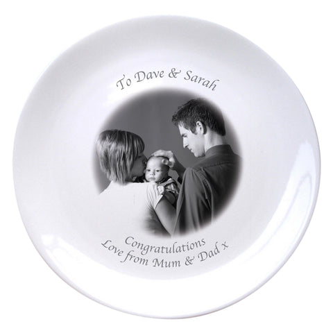 "Personalised Photo 8"" Bone China Coupe Plate 