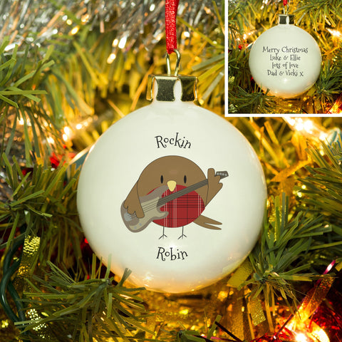 Rockin' Robin Bone China Bauble