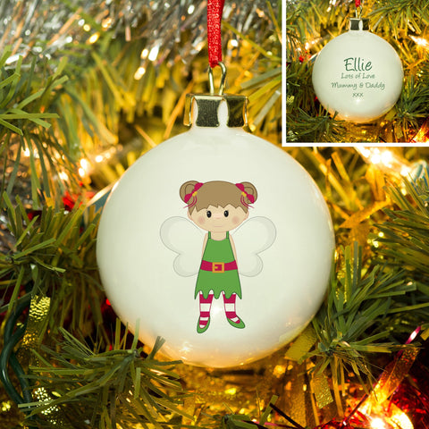 Christmas Pixie Bone China Bauble