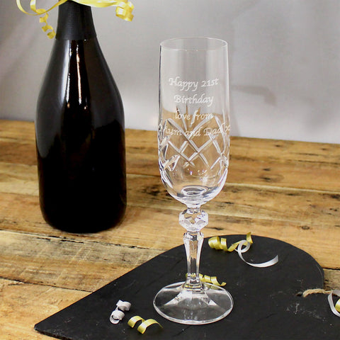 Personalised Crystal Champagne Flute