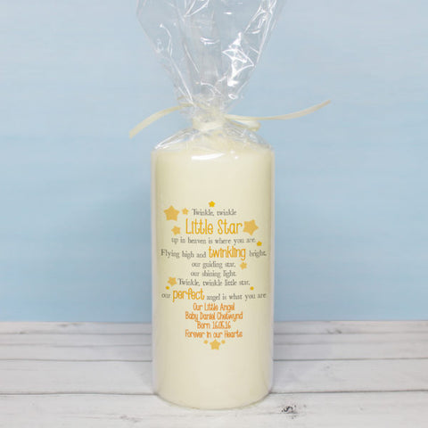 Twinkle Memorial Pillar Candle