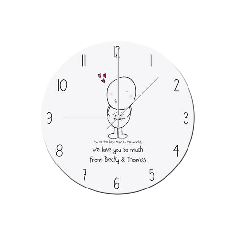 Personalised Chilli and Bubbles Mother's Day Clock