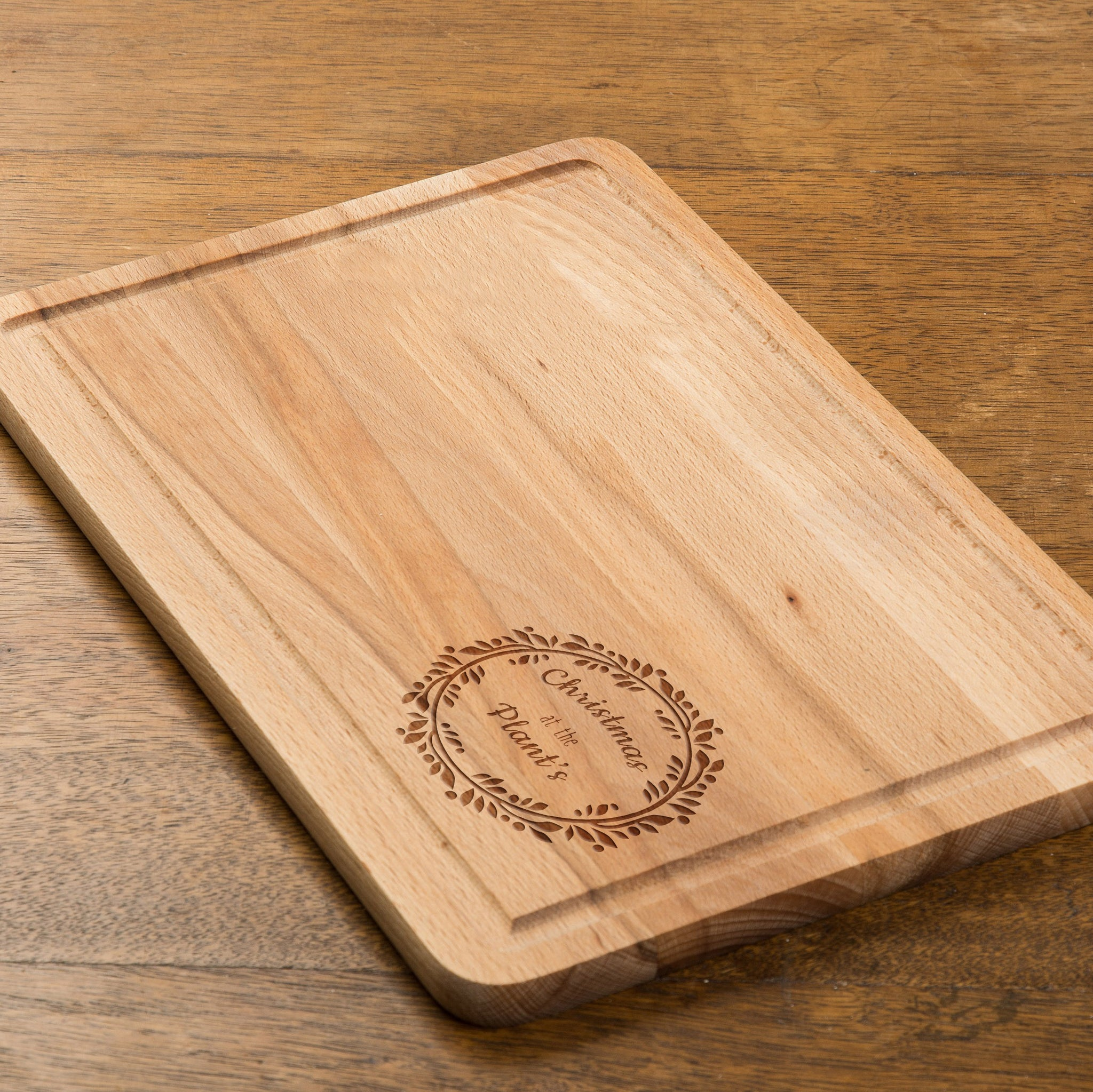 Personalised Contemporary Wreath Rectangular Chopping Board