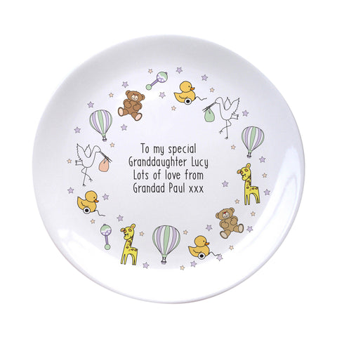 Personalised Nursery Scene Plate