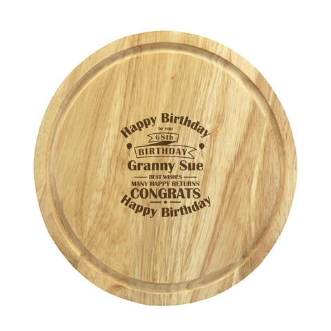 Birthday Celebration Round Chopping Board | ShaneToddGifts.co.uk