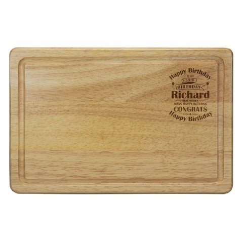 Birthday Celebration Rectangular Chopping Board | ShaneToddGifts.co.uk
