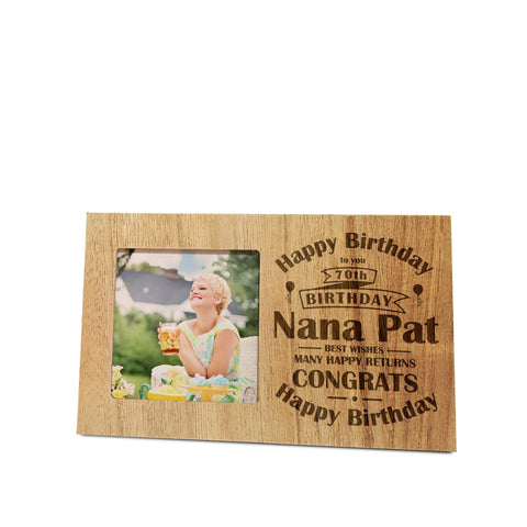 Birthday Celebration Panel Photo Frame | ShaneToddGifts.co.uk