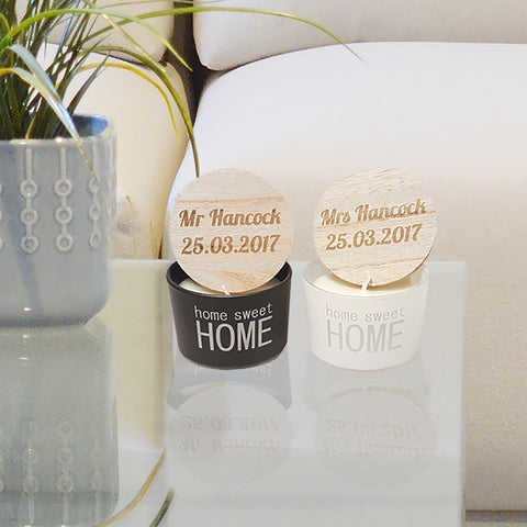 Mr & Mrs Scented Candles