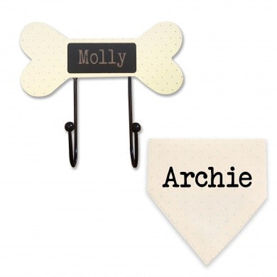 Cream Lead Hooks and Neckerchiefs, Dog Apparel by Low Cost Gifts