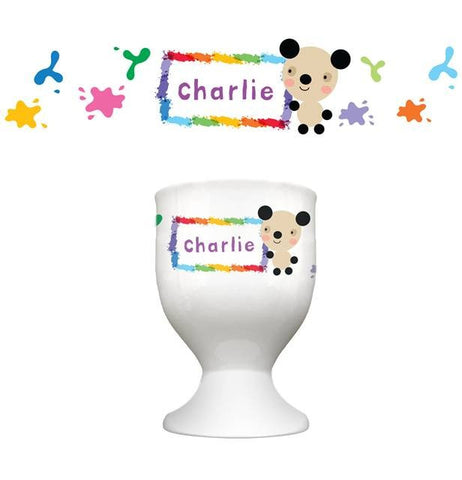 Arty Mouse Single Character Splash Border Egg Cup - 4 Designs