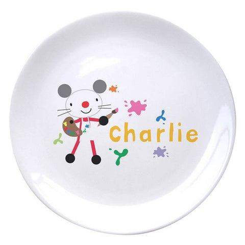 Arty Mouse Single Character Splash Plate - 4 Designs Available | ShaneToddGifts.co.uk