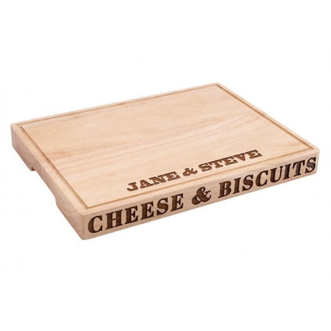 Personalised Wooden Cheese & Biscuits Board