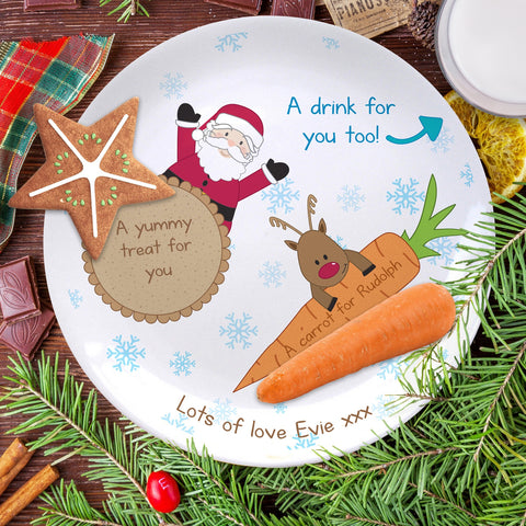 Treats for Santa Plate Personalised Christmas Eve Gift | ShaneToddGifts.co.uk