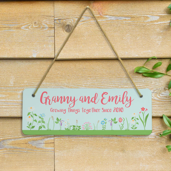 Growing Things Since Hanging Sign