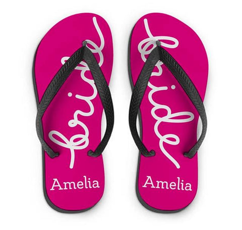 Personalised Bride Small Flip Flops | ShaneToddGifts.co.uk