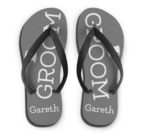 Personalised Groom Small Flip Flops | ShaneToddGifts.co.uk