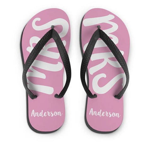 Personalised MRS Small Flip Flops