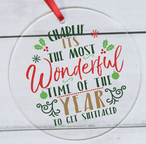 Most Wonderful Time Of The Year Acrylic Decoration | ShaneToddGifts.co.uk
