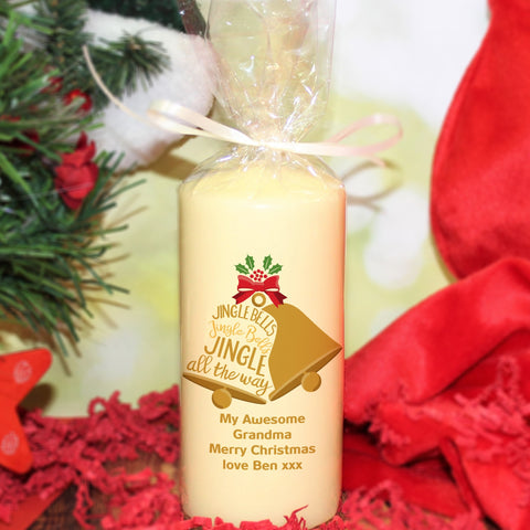 Jingle Bells Pillar Candle