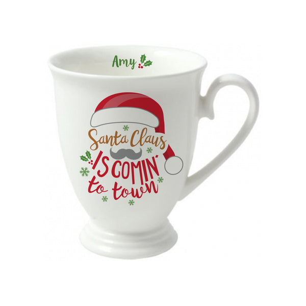 Santa Claus Is Comin' To Town Marquee Mug