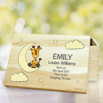 Sweet Dreams Giraffe Wooden Storage Box, Furniture by Low Cost Gifts